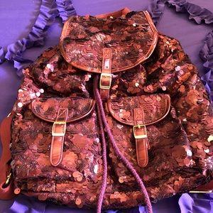 Burgandy Sparkle Backpack